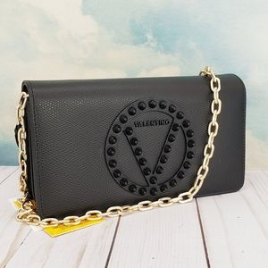 Valentino Sam Studded Leather Wallet On Chain